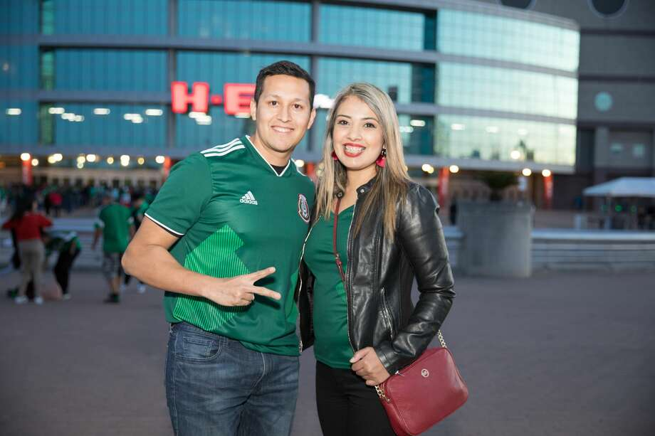 Soccer fans watched the Mexican National Team take on Bosnia & Herzegonvia on January 31, 2018 at the Alamodome. The crowd was extremely enthusiastic in support of the Mexican National Team. Photo: Marco Garza
