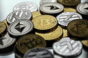 A collection of some of the many cryptocurrency tokens.