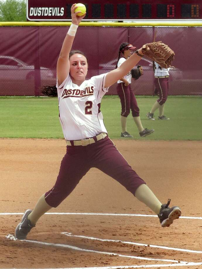 Starter Delainy Thompson leads the Dustdevils into the 2018 season after being named first-team All-Heartland Conference last year with a 2.66 ERA in 29 games. Photo: Cuate Santos /Laredo Morning Times File / LAREDO MORNING TIMES