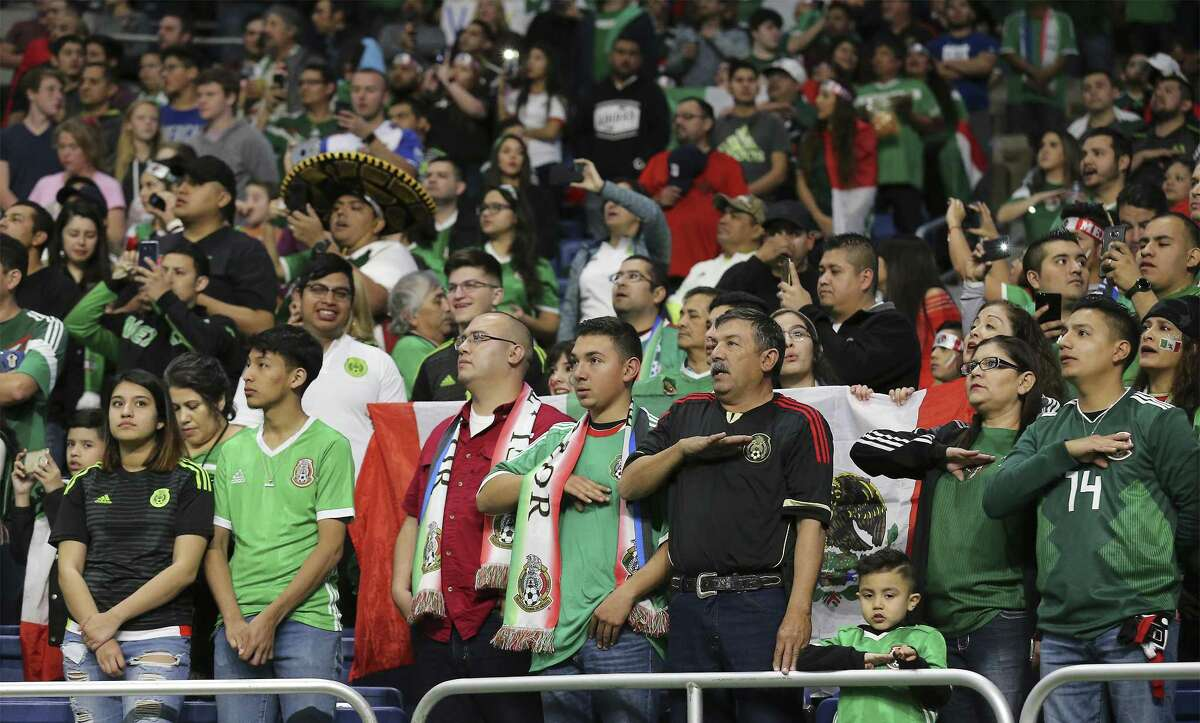 A crowd of over 26,000 attended the soccer game between Mexico and Bosnia and Herzegovina at the Alamodome on Wednesday, Jan. 31, 2018. (Kin Man Hui/San Antonio Express-News)