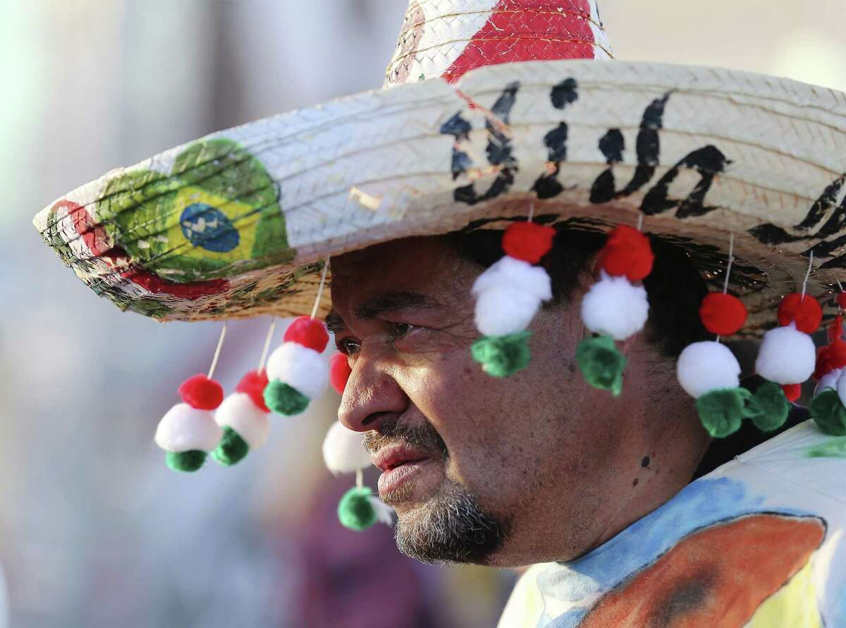 Ismael Medina poses for a picture as he attends the fan festival prior to the Mexico-Bosnia and Herzegovina international friendly soccer match at the Alamodome on Wednesday, Jan. 31, 2018. (Kin Man Hui/San Antonio Express-News)