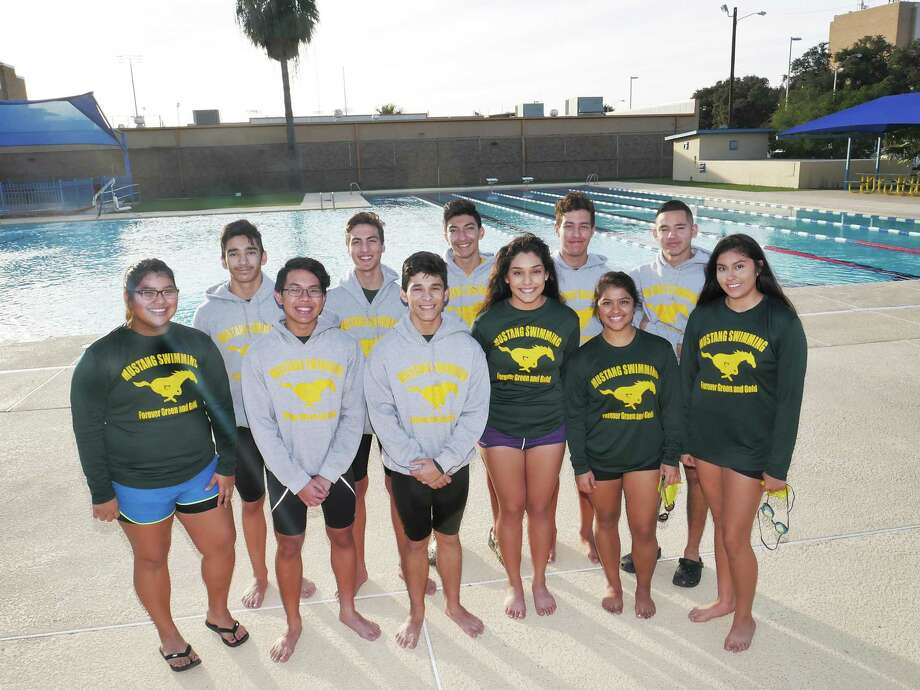 Members of the Nixon High School Swim Team will be the first team to represent Laredo ISD at a Region IV-5A swim meet this Friday and Saturday at the CCISD Natatorium in Corpus Christi. Photo: Cuate Santos / Laredo Morning Times / Laredo Morning Times
