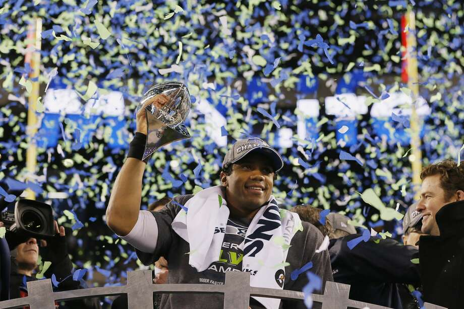 The first publicly-available Super Bowl ring from the Seahawks' 2013 season sold for $50,400 at an auction. Photo: Kevin C. Cox/Getty Images