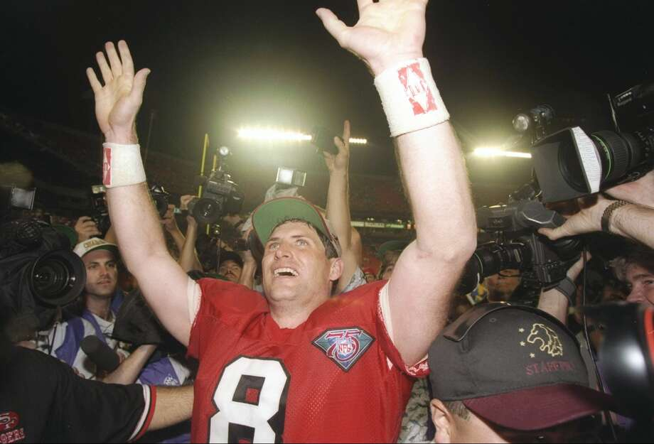 BEST: 49ers acquire Steve Young from the Bucanneers for second and fourth round draft picksYoung was originally supposed to be Joe Montana's backup and nothing more. But after Montana missed time due to multiple injuries, Young's performance convinced the 49ers brass to move on from Montana, a quarterback with four Super Bowls victories on his resume. Young went on to win a Super Bowl of his own, and was later inducted into the Pro Football Hall of Fame. Photo: Simon Bruty/Getty Images