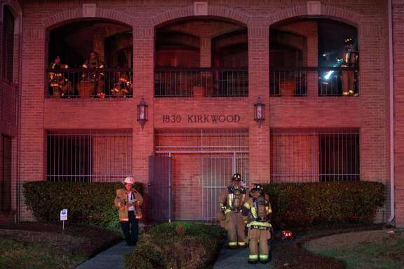 Houston Fire Department firefighters responded to a three-alarm structural fire on the 1800 block of Kirkwood Road Thursday, Feb. 1, 2018, in Houston.