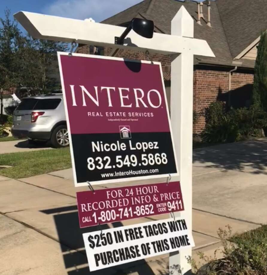 Realtor Nicole Lopez-Cummins said offering tacos with homes has increased interest from potential buyers. Photo: Nicole Lopez-Cummins