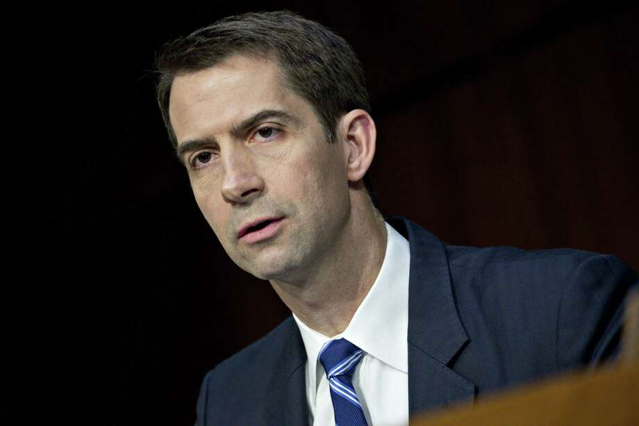 Sen. Tom Cotton, a Republican from Arkansas, wrote an op-ed in the New York Times. Photo: Bloomberg Photo By Andrew Harrer. / © 2017 Bloomberg Finance LP