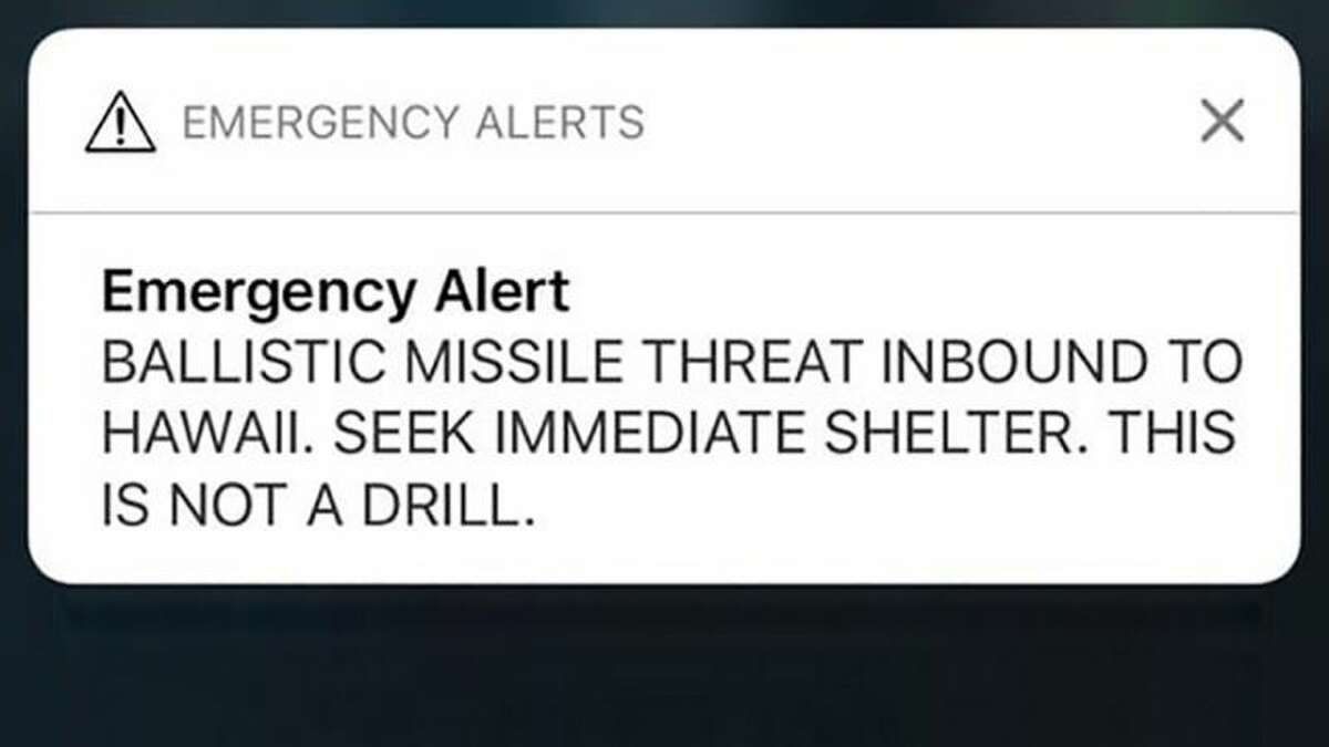 JANUARY 2018: Hawaii A Hawaiian government worker labeled a missile threat drill 'not a drill,' a blunder that caused more than a million people in Hawaii to fear that they were about to be struck by a nuclear missile.