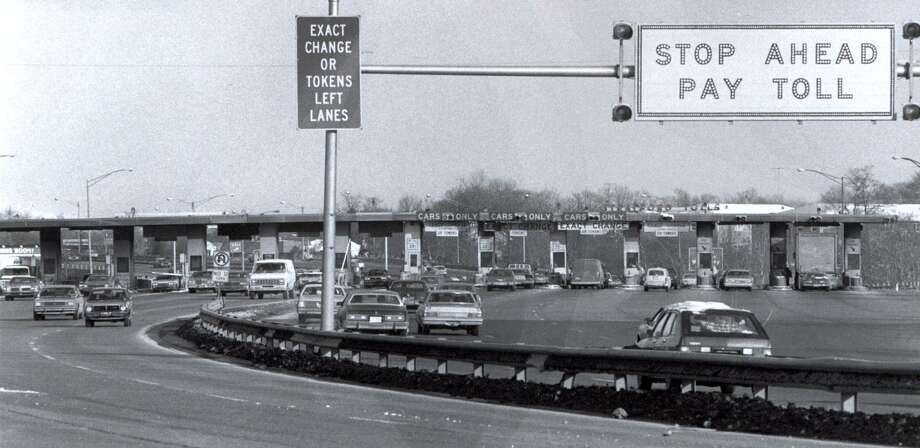 A fiery accident that killed seven people at the Stratford toll plaza on Interstate 95 in 1983 led to the removal of the booths on Connecticut highways. Photo: File Photo / Connecticut Post File Photo