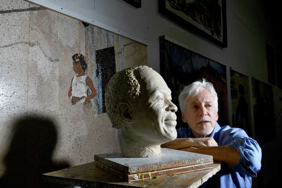 Artist Steven Weitzman, shown with a bust of Marion Barry, was selected to create an 8-foot bronze statue of the former Washington, D.C., mayor that will be unveiled in early March. Photo: Washington Post Photo By Katherine Frey / The Washington Post