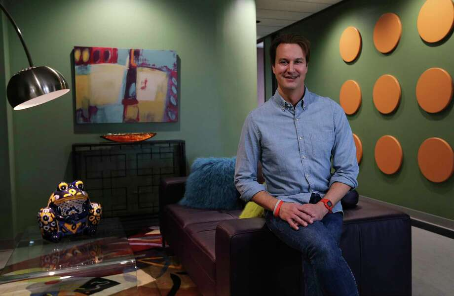 David Heard, Chief Marketing Officer for Securelogix on Jan. 18. The CEO of Tech Bloc has a lot of ideas about where San Antonio is going as a city and what it needs to get there. Photo: Kin Man Hui /San Antonio Express-News / ©2018 San Antonio Express-News