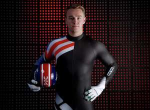 PARK CITY, UT - SEPTEMBER 25:  Luger Tucker West poses for a portrait during the Team USA Media Summit ahead of the PyeongChang 2018 Olympic Winter Games on September 25, 2017 in Park City, Utah.  (Photo by Tom Pennington/Getty Images)