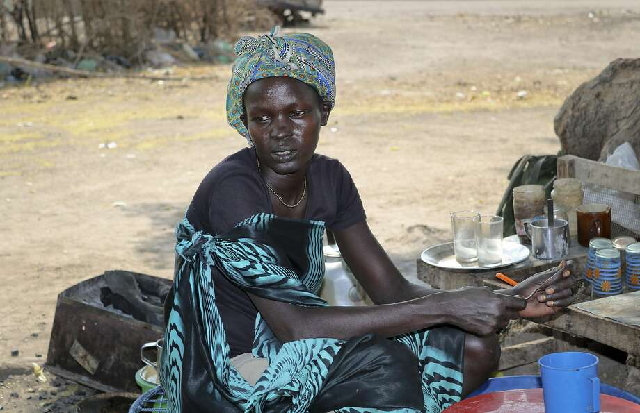 Nyakum Well, 27, said she was separated from her two young children five days before when government troops attacked her town of Pieri. South Sudan's civil war began in December 2013. Photo: Sam Mednick, Associated Press