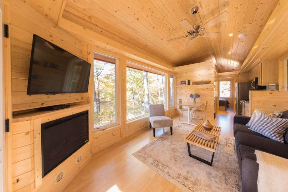 Canoe Bay Escape Village, a lakeside resort in Wisconsin, is selling and renting tiny homes to campers. Photo: Steve Niedorf-Escape RV / The Washington Post
