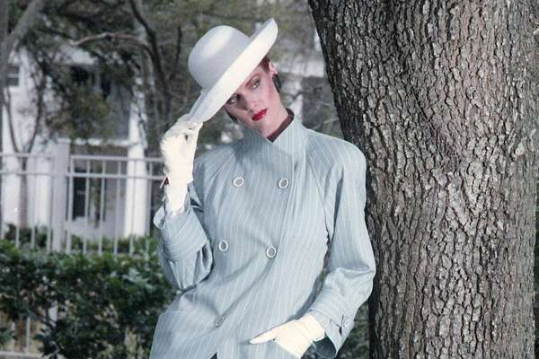 1987: A fashion model outside the River Oaks Country Club.
