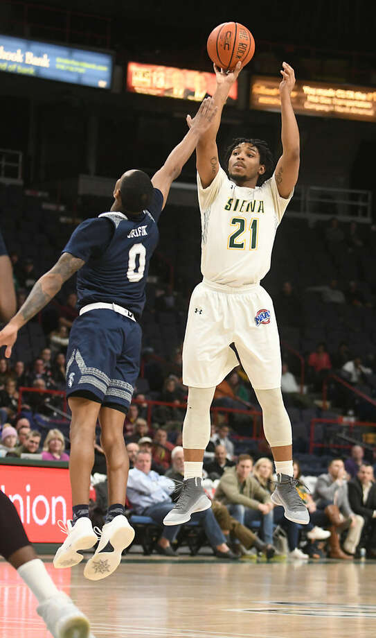 Siena's Ahsante Shivers would like to atone for his scoreless, six-turnover performance against Manhattan on Jan. 13. (Lori Van Buren/Times Union)
