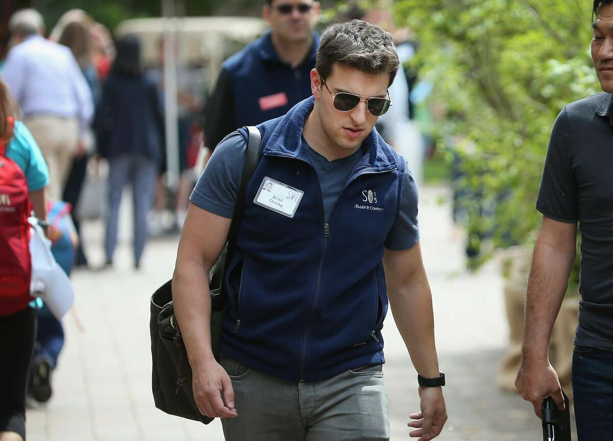 FILE: Brian Chesky, co-founder and CEO of Airbnb, attends the Allen & Company Sun Valley Conference on July 8, 2015 in Sun Valley, Idaho.