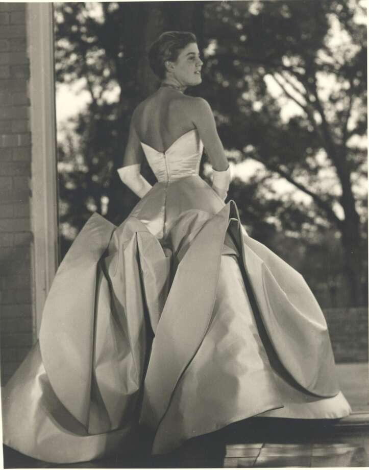 1952: Christophe de Menil, one of John and Dominique de Menil's five children, wore a Charles James gown for her debut at River Oaks Country Club. Photo: S. De L'Epine