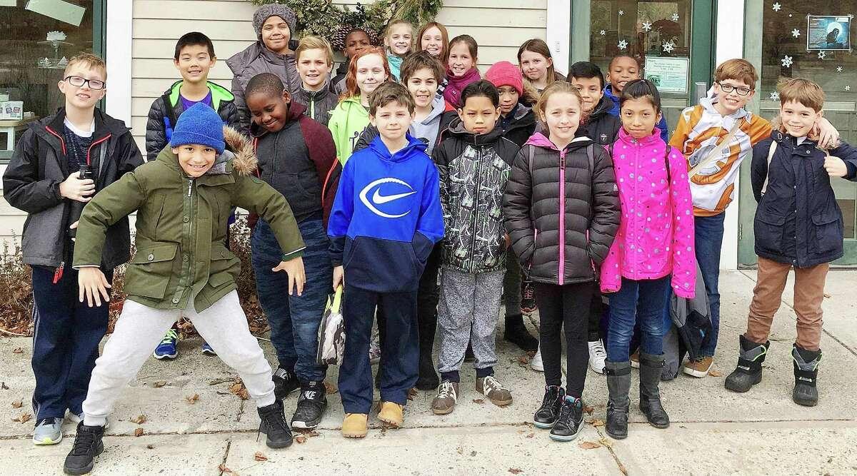 Ox Ridge School students visit the New Canaan Nature Center on Jan. 20.