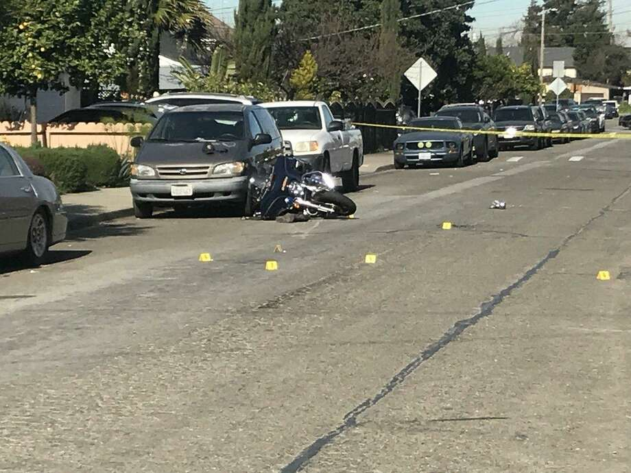 Authorities are searching for a man who rammed into a sheriff deputy during a traffic stop, officials said.