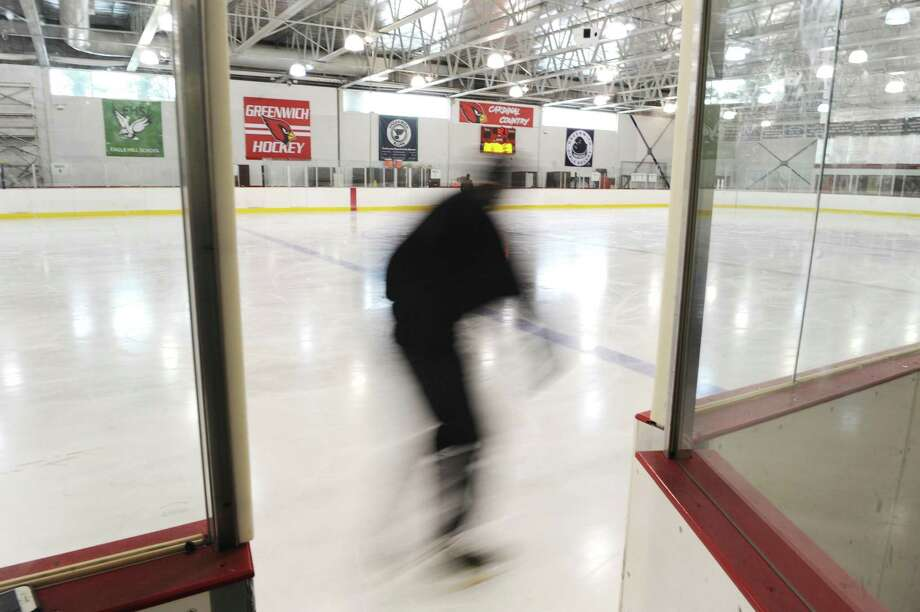 A Man Skates During Open Ice Time At Dorothy Hamill Skating Rink In Greenwich Conn