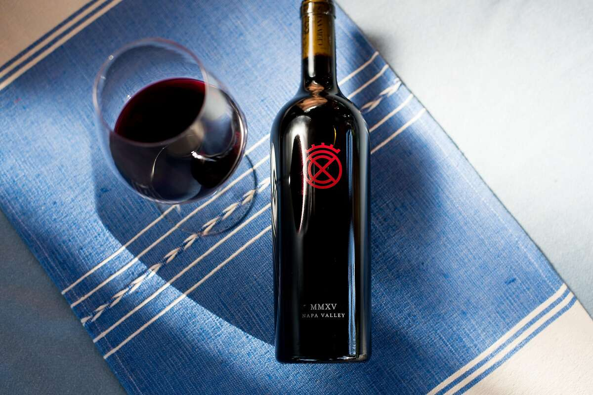 A bottle Cervantes 2015 Cabernet Sauvignon rests on a table at Xavier Cervantes' ranch in Pope Valley, Calif., on Saturday, Oct. 7, 2017.