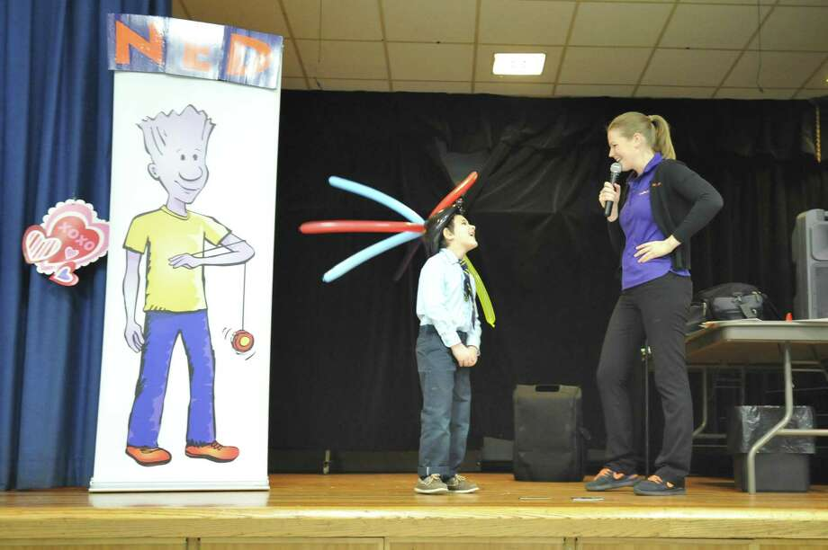 Students at the St. Anthony School in Winsted took in some wisdom about life and enjoyed yo-yo tricks and sleight of hand Thursday during an assembly with The NED Show. Photo: Ben Lambert / Hearst Connecticut Media