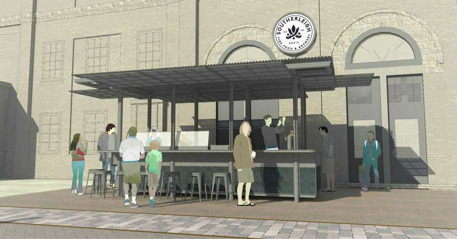 A rendering of the new outdoor oyster bar scheduled to open in Spring 2018 at Southerleigh Fine Food & Brewery at The Pearl. Photo: Rendering By Clayton & Little /Courtesy Of Southerleigh