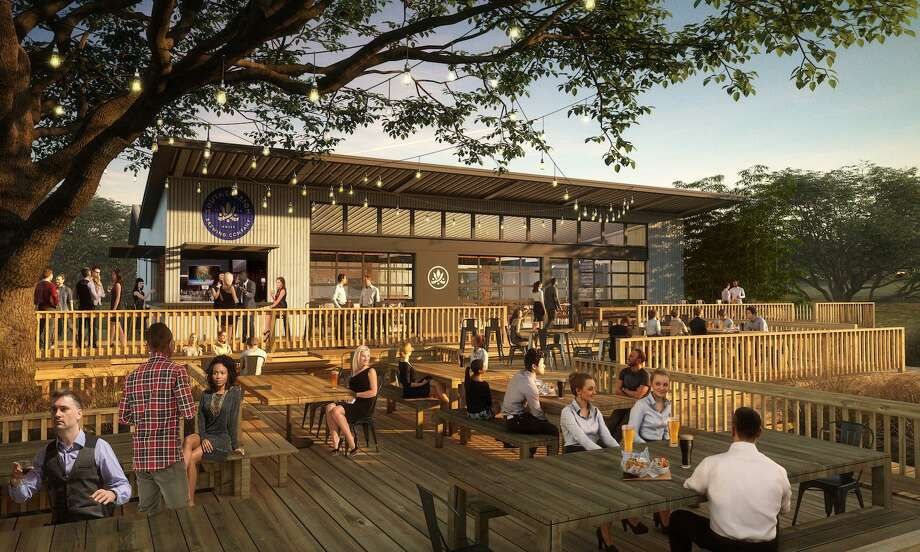 A rendering of Southerleigh Fine Food & Brewery's forthcoming Brooks location. Photo: Courtesy Gomez Vazquez International