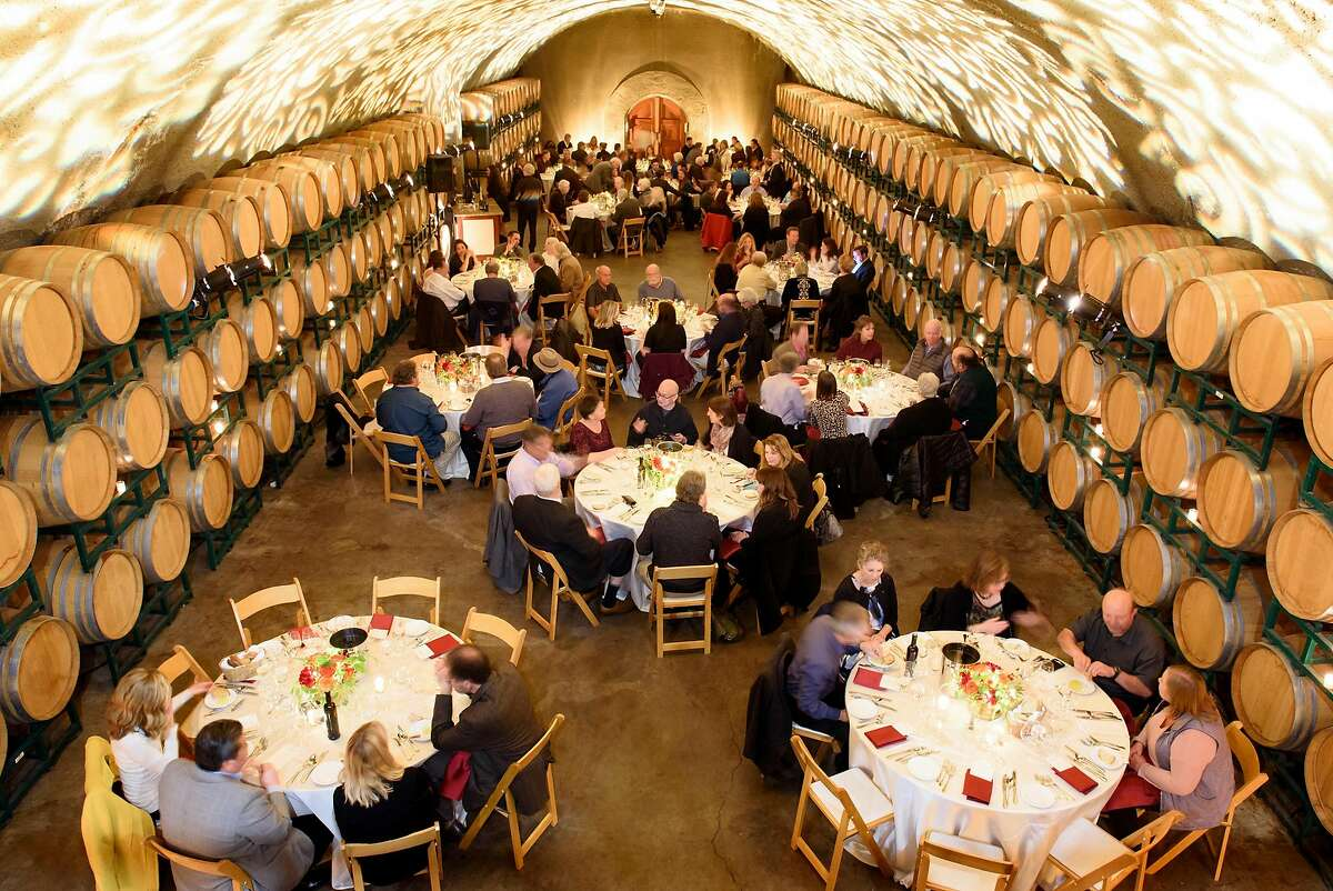 A dinner is held in the wine caves of Gloria Ferrer in Sonoma, Calif.