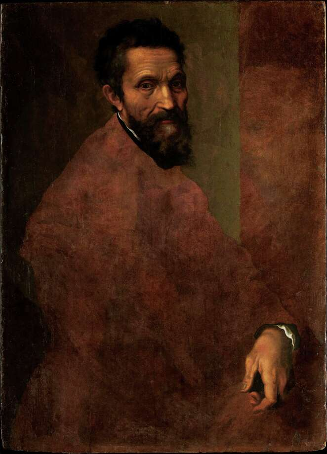"""Portrait of Michelangelo,"" a circa-1544 painting attributed to Jacopino del Conte, is among works on view March 11-June 10 in ""Michelangelo and the Vatican"" at the Museum of Fine Arts, Houston. Photo: Metropolitan Museum Of Art, New York / https://creativecommons.org/publicdomain/zero/1.0/"