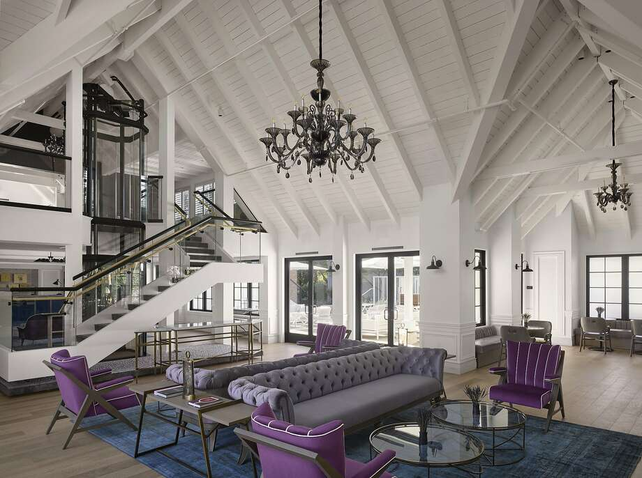 The lobby at the Vintage House at the Estate in Yountville. Photo: Courtesy Vintage House/Will Pryce