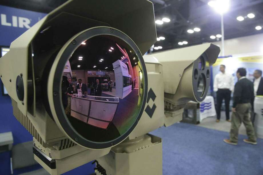 The FLIR Systems infared camera looks out on passersby during the Border Security Expo at the Henry B. Gonzalez Covention Center on January 31, 2018. Photo: Tom Reel, Staff / San Antonio Express-News / 2017 SAN ANTONIO EXPRESS-NEWS
