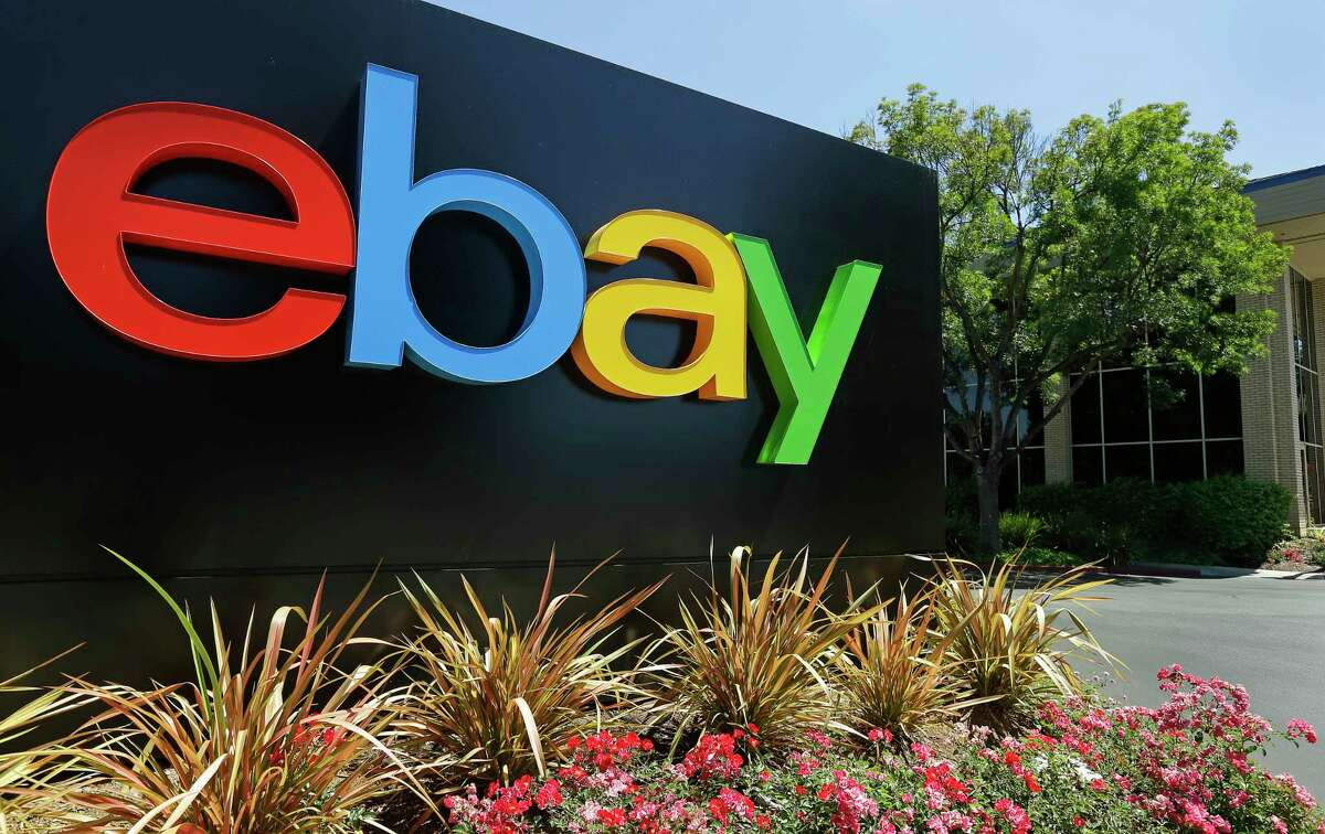 This Tuesday, July 16, 2013, photo shows an eBay sign at eBay headquarters in San Jose, Calif. The company reports quarterly earns on Wednesday, July 17, 2013. (AP Photo/Ben Margot) ORG XMIT: CABM101