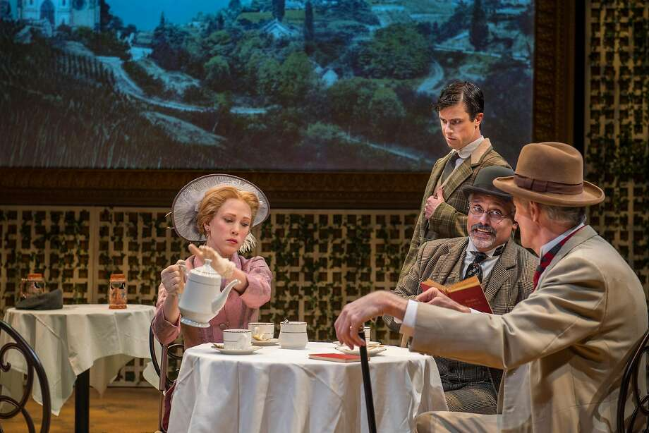 "Megan Trout (left), Dan Hoyle, Michael Gene Sullivan and Warren David Keith perform in Aurora Theatre's production of George Bernard Shaw's ""Widowers' Houses."" Photo: David Allen, Aurora Theatre"