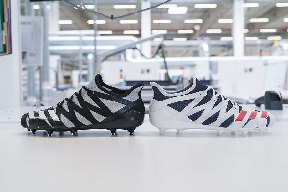 Adidas SPEEDFACTORY delivers the football cleats of the future. AM4MN cleats digitally created with athlete data for best-in-class fit, comfort and movement. Photo: Adidas
