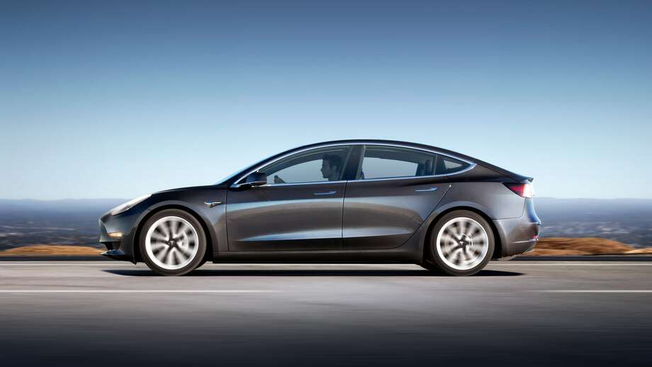 Tesla's highly-anticipated Model 3 is making its debut in Houston on Feb. 2, 2018. This will be the first opportunity for Houstonians to see, touch and sit inside the electric car being showcased at the Galleria Mall. Photo: Tesla