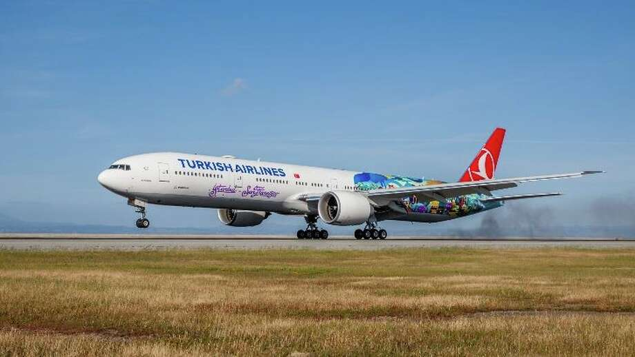 Turkish Airlines flies a Boeing 777-300 ER between San Francisco and Istanbul, but will add a smaller Boeing 787 Dreamliner 3x per week.