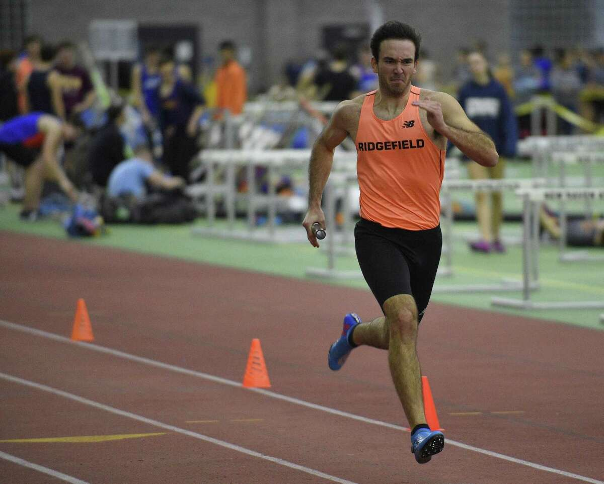 Competitors compete during the FCIAC Indoor Track and Field Championship at the Floyd Little Athletic Center in New Haven, Conn., Thursday, Feb. 1, 2018.
