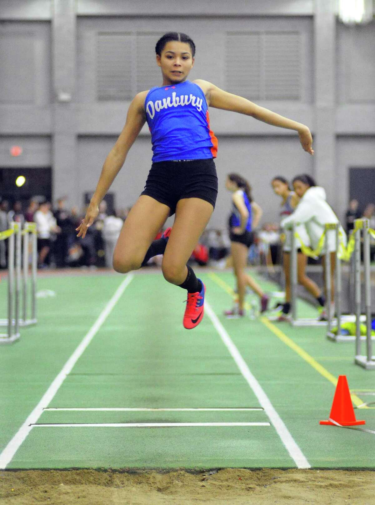 FCIAC Indoor Track and Field Championship action in New Haven, Conn., on Thursday Feb. 1, 2018.
