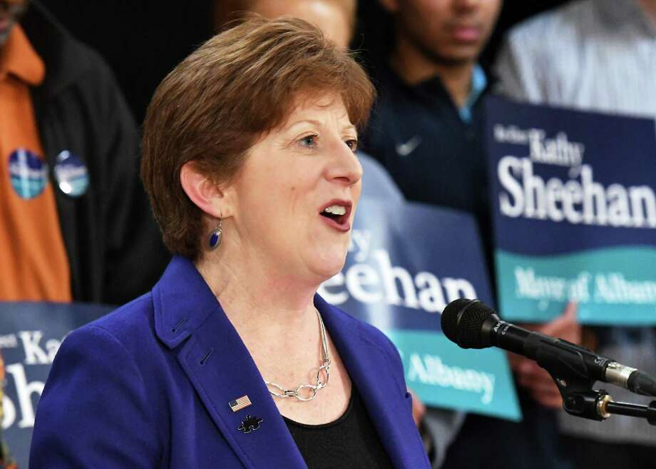 Albany Mayor Kathy Sheehan announces her run for re-election to city mayor Saturday April 8, 2017 in Albany, NY.  (John Carl D'Annibale / Times Union archive) Photo: John Carl D'Annibale / 20040176A