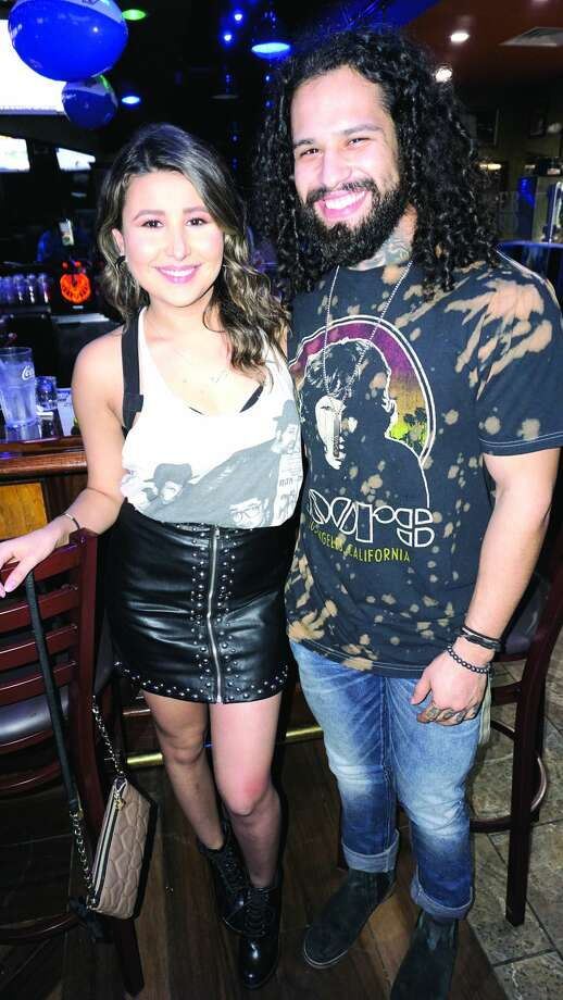 Kathya Cavazos and Raul Guerrero at Tilted Kilt Pub & EateryFriday, February 2, 2018 Photo: JG MORALES