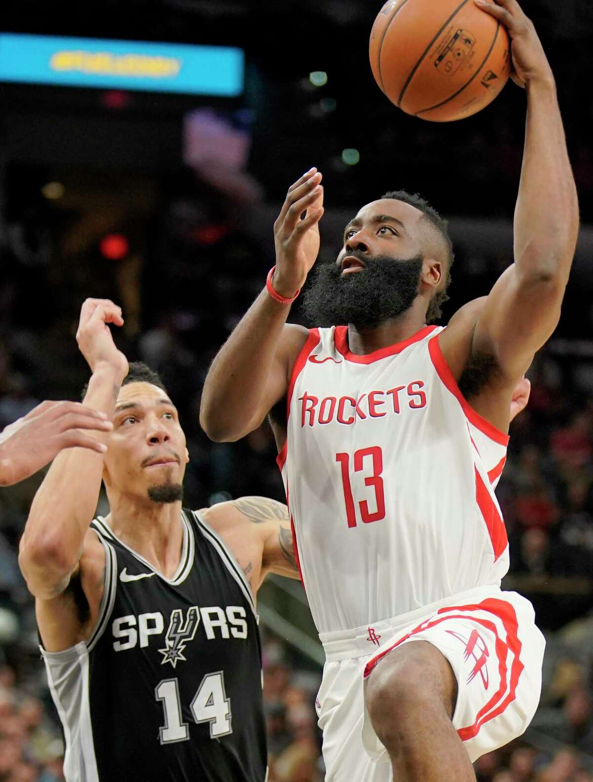 James Harden served as the Rockets' safety net all game long Thursday night against Danny Green and the Spurs. With 28 points and 11 assists, Harden ensured the Rockets retained the upper hand throughout the game.