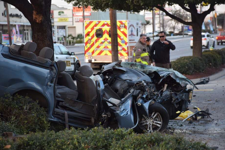 Police are responding to a fatal crash at a Whataburger on the Southwest Side. Photo: Caleb Downs / San Antonio Express-News