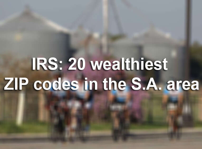 A report from the Internal Revenue Service provides a snapshot of how much money people in the San Antonio area earned in 2015, the most recent year of data available. Find out the 20 wealthiest ZIP codes in Bexar County by income levels in the gallery above.