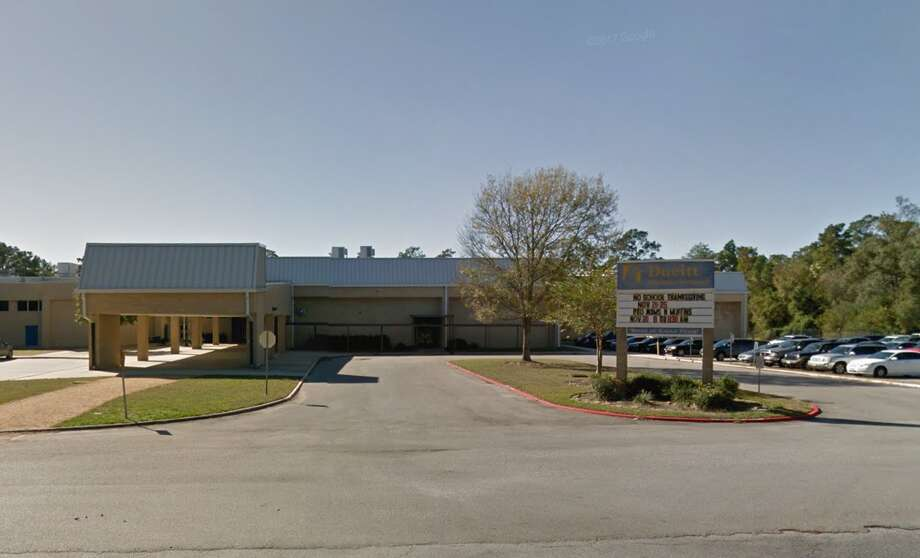 """A teacher at Deuitt Middle School is accused of using """"racially insensitive comments in the classroom,"""" according to Spring ISD. The teacher has been placed on administrative leave, according to Spring ISD. Photo: Google Street View"""