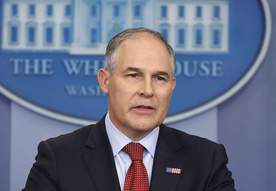EPA Administrator Scott Pruitt personally monitored efforts to remove information. Photo: Pablo Martinez Monsivais, Associated Press