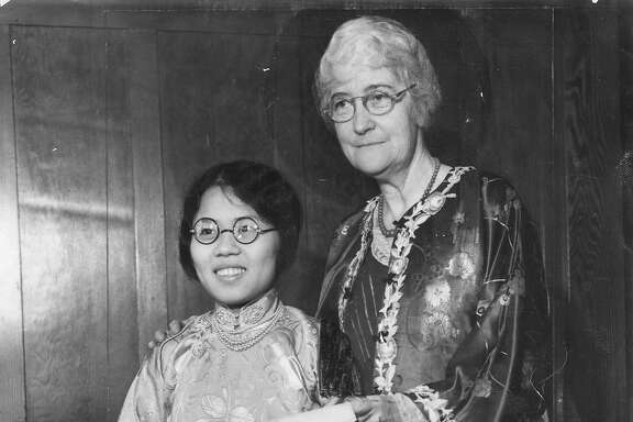 Hope Chow with Mrs. Donaldina Cameron,   Photo ran 10/17/1932 also 08/07/1955, p 4, 07/21/1957, p. 25