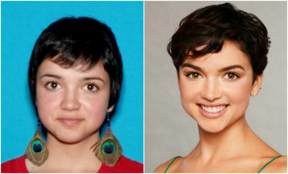 "Rebekah Martinez was reported as missing in Humboldt County on Nov. 18, 2017. After she was found on the reality series, ""The Bachelor,"" she was removed from the California Department of Justice's website. Photo: Left: Attorney General's Office. Right: Craig Sjodin/ABC Via Getty Images"