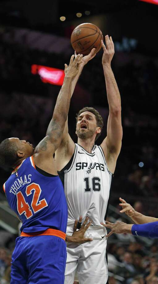 Pau Gasol has been a highly productive 37-year-old for the Spurs this season. Photo: Ronald Cortes /Ronald Cortes For The San Antonio Express News / 2017 Ronald Cortes